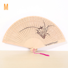 Fashion Colorful 9 inch Chinese Japanese Flower Pattern Hollow Out Folding Fan Wedding Home Decor Art Crafts Lady Gift(China)