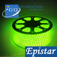 DHL FedEX 100m/lot SMD 3528 LED strip light led ribbon led tape green color 220v 230V240v epistar chip 60leds/m Waterproof(China)