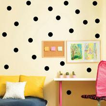 54/20 PCS 3cm and 5cm black tiny polka dots circle cycling round wall sticker for kitchen refrigerator bathroom decor