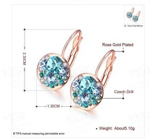 2017 New RED Bella Crystal Earrings For Women Crystal From Swarovski Fashion Stud Earrings wedding Jewelry Gift(China)