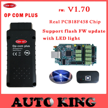 with PIC18F458 chip ! Best quality! v1.70 OBD2 Op-com / Op Com / Opcom plus for opel scan tool support FLASH FW update Free ship(China)
