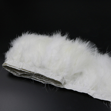 2 yard/lot white marabou feather boa trim fluffy per yard height 6'' 8 15-20cm party decoration apperal sewing(China)