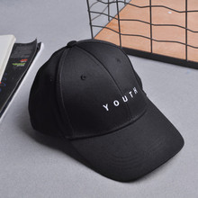 2017 Summer Baseball Cap Fashion Hip Pop Caps Youth Letter Snapback Cap Men Women Spring Cotton Black Baseball Caps hats Female(China)