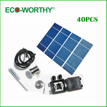 40PCS High power 2X6 solar cells,soalr module +flux pen +tab wire+bus wire +junction box+free shipping DIY 18v solar panel