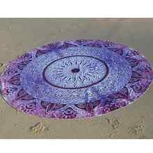 Durable Beach towel Chiffon Beach Cover Up Round Beach Mandala Pattern Throw Tapestry Hippy Tablecloth Beach Towel Yoga Mat