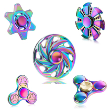 Buy Tri-spinner Finger Spinner Triangle Handspinner Fidget Hand Spinner Zinc Alloy Fidget Toy Anti Stress Kids Gift for $4.74 in AliExpress store