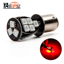Best Price 1157 BAY15D 18 SMD 5050 LED CANBUS Error Free white Red Signal P21/5W Car Auto Tail Brake Stop Light Bulb Lamp DC12V