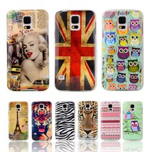 "For Samsung Galaxy S5 case Soft Silicone TPU cover For Samsung Galaxy S 5 SV I9600 G900S 5.1""Owl Tower Flag Phone Case fundas"