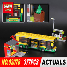 Lepin 02078 Genuine 377Pcs City Series The Bus Station Set 60154 Building Blocks Bricks Educational Toys for Kids Christmas Gift(China)