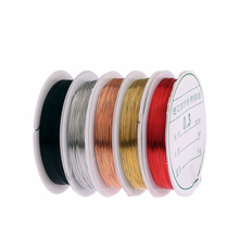 0.3mm red gold silver colors metallic thread string beads rope beading craft wire fit Jewelry Marking DIY Essential Jewelry Cord(China)