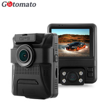 Gotomato Dual Lens GPS Novatek 96655 Chip Car DVR Full HD 1080P Sony IMX323 Sensor GS65H Dash Cam 2 Camera Video Recorder