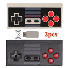 2pcs/lot 2017 Hot Wireless Game Controller + Receiver for Nintendo NES Classic Edition Mini NES Game Console for NES Mini(China)