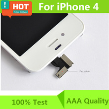 100% test With Anti-dust Mesh LCD For iPhone 4 LCD Display Touch Screen Digitizer Assembly Replacement Free Shipping