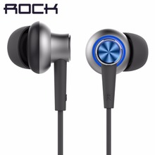 ROCK Original Y5 Earphone Stereo Mic 3.5mm In Ear Earphones DJ HIFI Bass Headset Earbuds With Microphone for iPhone Xiaomi Sony(China)