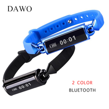 DAWO New Bluetooth Smart Watch Bracelet Heart Rate Monitor for Android IOS OLED Touch Screen IP68 Swimming Bluetooth Waterproof(China)