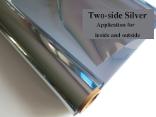 30-120cm width TWO-SIDE Silver Insulation Window Film Stickers Solar Reflective One Way Mirror for both inside and outside(China)