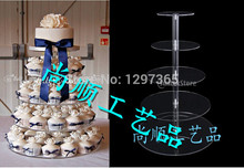 Clear acrylic cupcake display stand, 5 tier cup cake display decoration