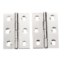 DSHA New Hot 2pcs Stainless Steel 2 Inch 4.4x3.1cm Cabinet Door Hinges Hardware Best Selling