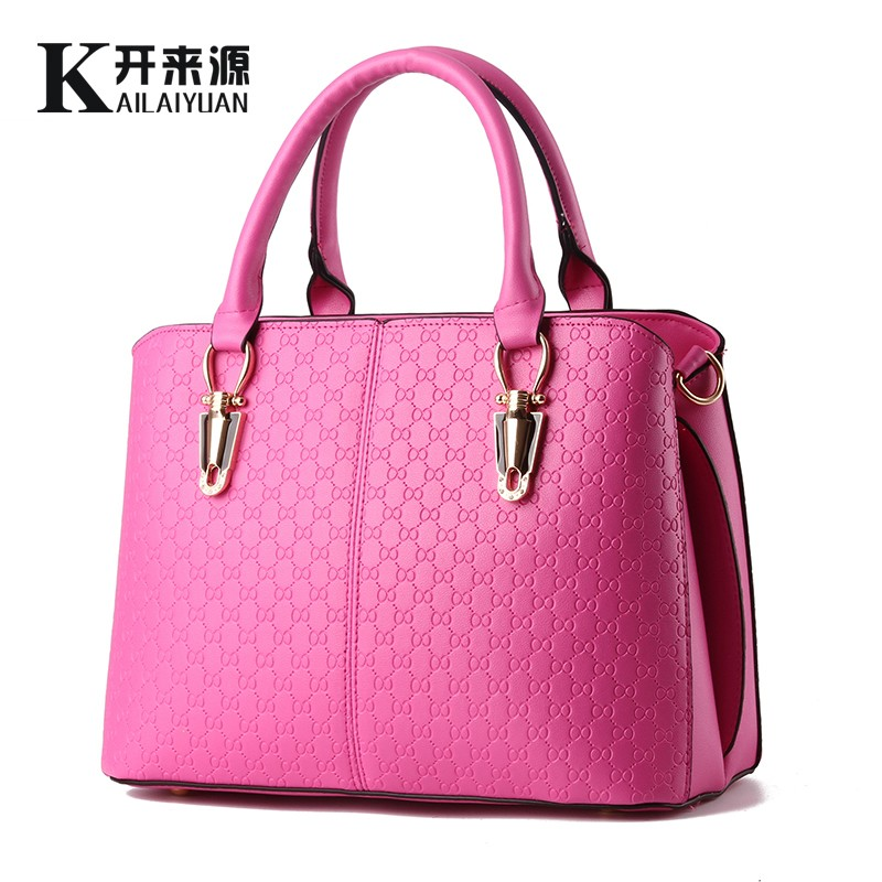 100% Genuine leather Women handbags 2017 New female bag leisure female stereotypes sweet stylish shoulder bag Messenger bag(China)