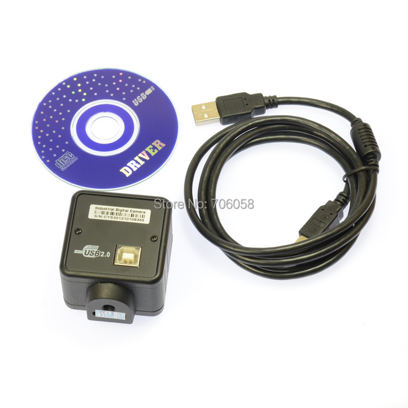 USB Microscope Camera 2.0MP CMOS Digital Industry C-mount Magnifier Video Camera Output for PCB Lab<br>