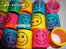 72pcs/lot cartoon smile face spring circle colorful,rainbow looking, rainbow towel, kids education toys wholesale