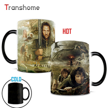 Color Changing Cup The Lord of The Rings Coffee Mug Ceramic Cold Hot Heat Tea Sensitive Cups For Best Friend Gift Transhome