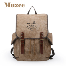 Muzee 2017 Summer New Arrival Stylish Backpack Fashion Backpack suit for 5-7 days Trip Backpack Retro Khaki Backpack