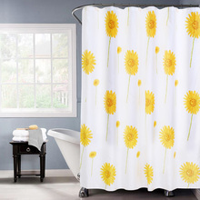K Water SunFlower Polyester Shower Curtain With Hooks