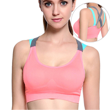 Cross Strap Back Women Sports Bra,Professional Quick Dry Padded Shockproof Elastic Running Yoga Tank Tops Vest  S/M/L