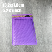 13.2x17.8cm (5.2*7inch) 20pcs/lot Usable space purple Poly bubble Mailer envelopes padded Mailing Bag Self Sealing for packing(China)