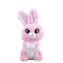 "Original 6"" 15cm TY Beanie Boos Big Eyes Bubby Pink Bunny Rabbit Plush Stuffed Animal Collectible Doll Toy Birthday Gifts"