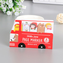 2pcs/lot Happy Bus Self-Adhesive Memo Pad Sticky Notes Post It Bookmark Office Supply Stationery Paper