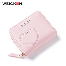 2017 Lovely Women handbags Small Wallet Female Mini PU Leather Bag Ladies Purse Coin Zipper Pocket Card Holder Girl cute Wallets