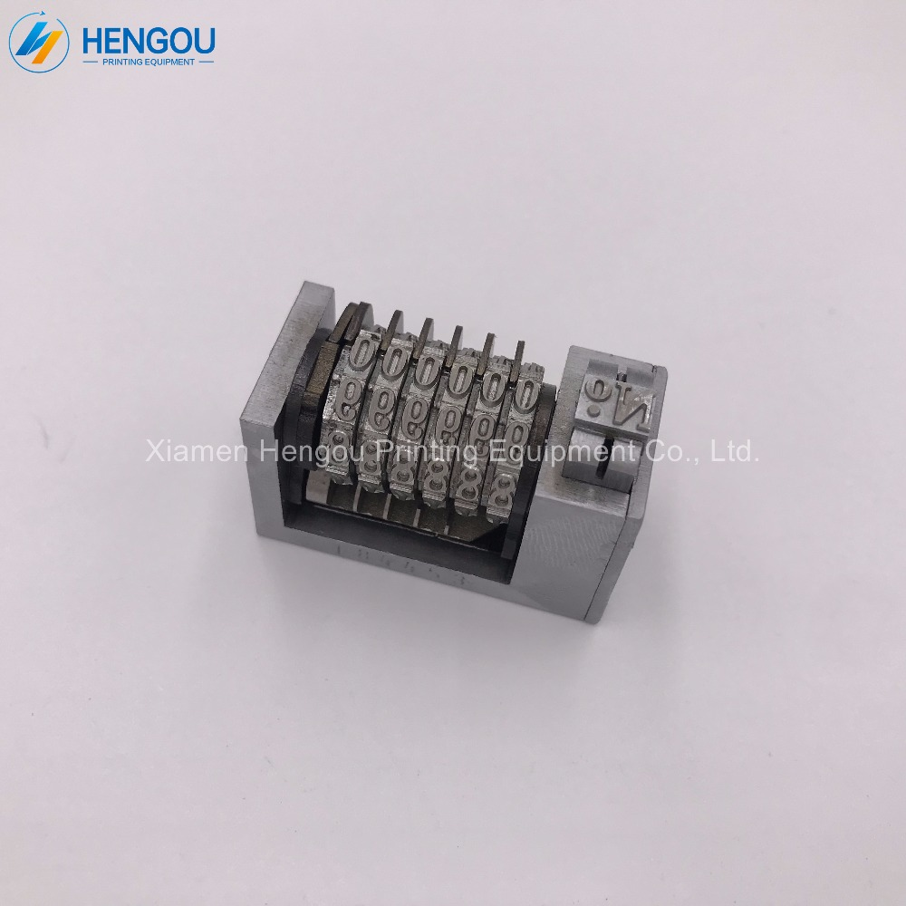 1 Piece full steel 6 digits Numbering machine Platen printing machine number coding 4X8 Cicero printer backward jump mode 9876..