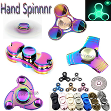 2017 New Colorful EDC Tri-Spinner Fidget Funny Toy Hand Spinner Metal Fidget Spinner Autism ADHD Adult Decompression Finger Gyro