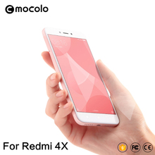 2017 Mocolo Hot Selling Tempered Glass Full Cover Screen Protector 2.5D Protective Film for Xiaomi Redmi 4X Mobile Phone 5 Inch