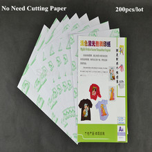 Promotion No Need Cutting Laser Paper 200pcs*A4 Paper White Color Heat Transfer Paper Printing For T shirt Fabric Transfer Paper
