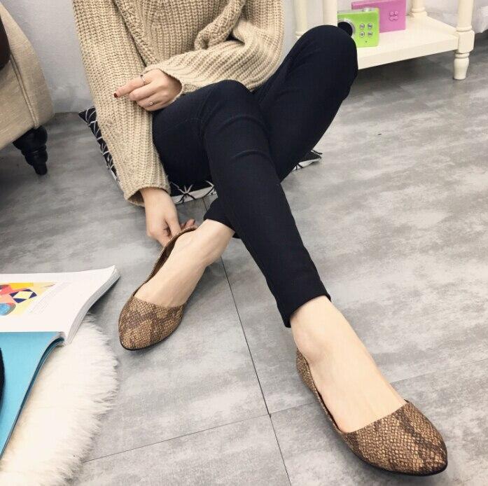 Womens shoes  comfortable flat shoes Ballet Flats shoes large size shoes Women flats -588<br><br>Aliexpress