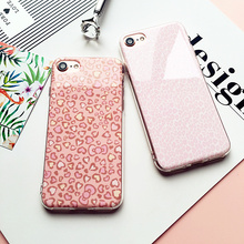 Pink Leopard Print TPU Capa case cover For iPhone 6S 7 Plus