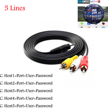 HD 3RCA AV Cable 5 Clines line for Satellite Receiver Supported Cccam DVB-S2 via USB WIFI