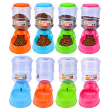 New Pet Feeder Dog Automatic Food Water Feeder Pet Bowl Water Bowl for Dog Cat Dog Drinker Automatic Food Bowl 3.5L Pet Supply(China)