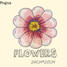 Prajna Thermal Iron On Transfers For T Shirt Fabric Printing Hot Paper Vinyl Heat Transfers For Clothes Stickers Patch Flower