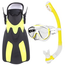 Whale Water Sports Diving Equipment Scuba Diving Mask snorkel fins set MK100+SK100+FN200(China)