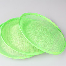 "Free shipping 8""/20cm light green sinamay fascinator base/ sinamay hair accessories,DIY hair accessories 15pieces/lot MYQH018LG"