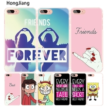 HongJiang best friend forever lovers couple cell phone Cover case for iphone 4 4s 5 5s SE 5c 6 6s 7 8 X plus(China)