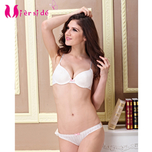 Mierside WX14017 free shipping women bra sets white bra sets 32b 34b 36b(China)