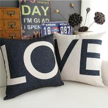The Nordic  LOVE black white Valentine's day gifts Pillow Linen Cushion Pillow   home decorate sofa cushions