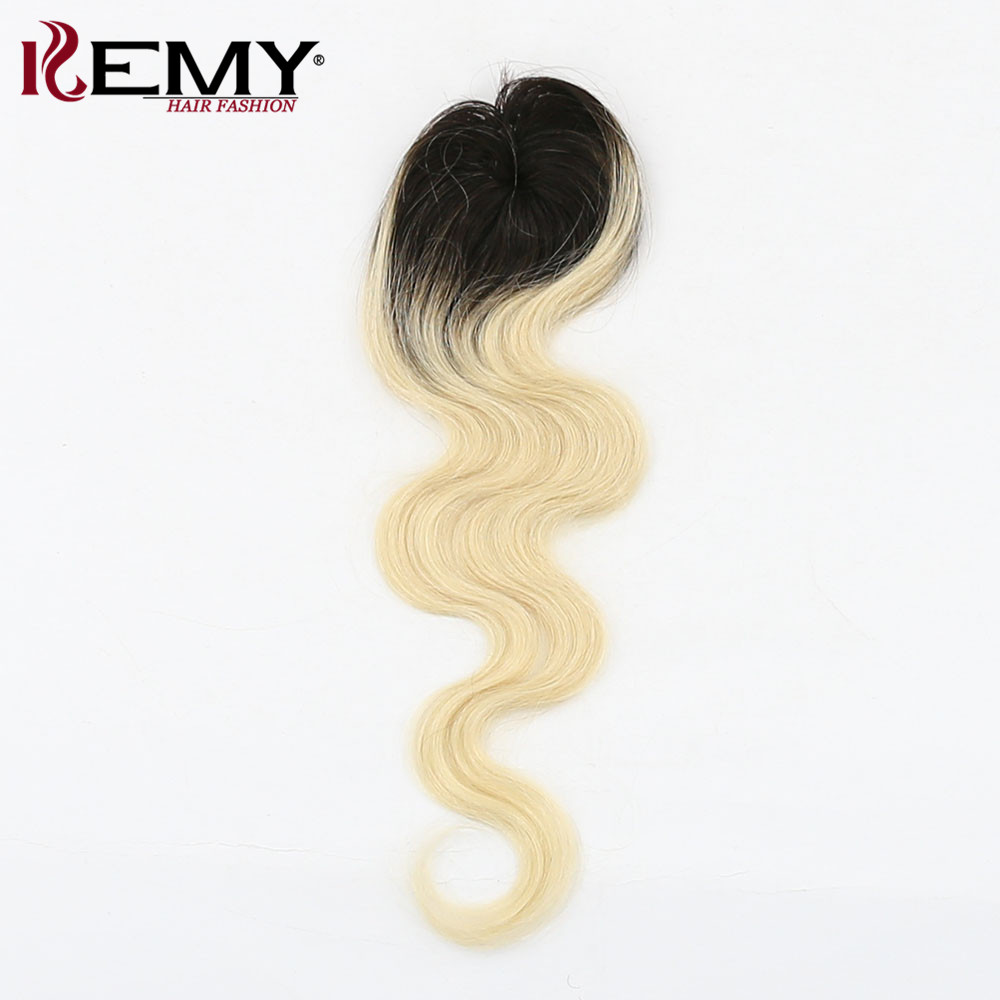 KEMY HAIR Brazilian Human Hair 6 Bundle One Pack With Closure For Full Head Body Wave Hair Weaving Non-Remy Ombre Hair Extension