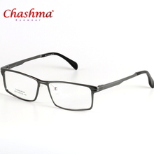 Chashma Brand Titanium Eyeglasses Frame Men Designer Business Men Frame Glasses With Spring Hinge  Eyewear Oculos de Grau