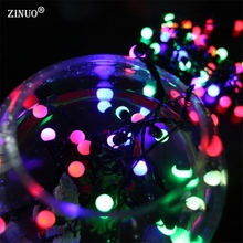 ZINUO 5M 50pcs Ball Fairy String Lights Outdoor Christmas Garland String  Ball Wedding String Light Garland Decoration 110V 220V